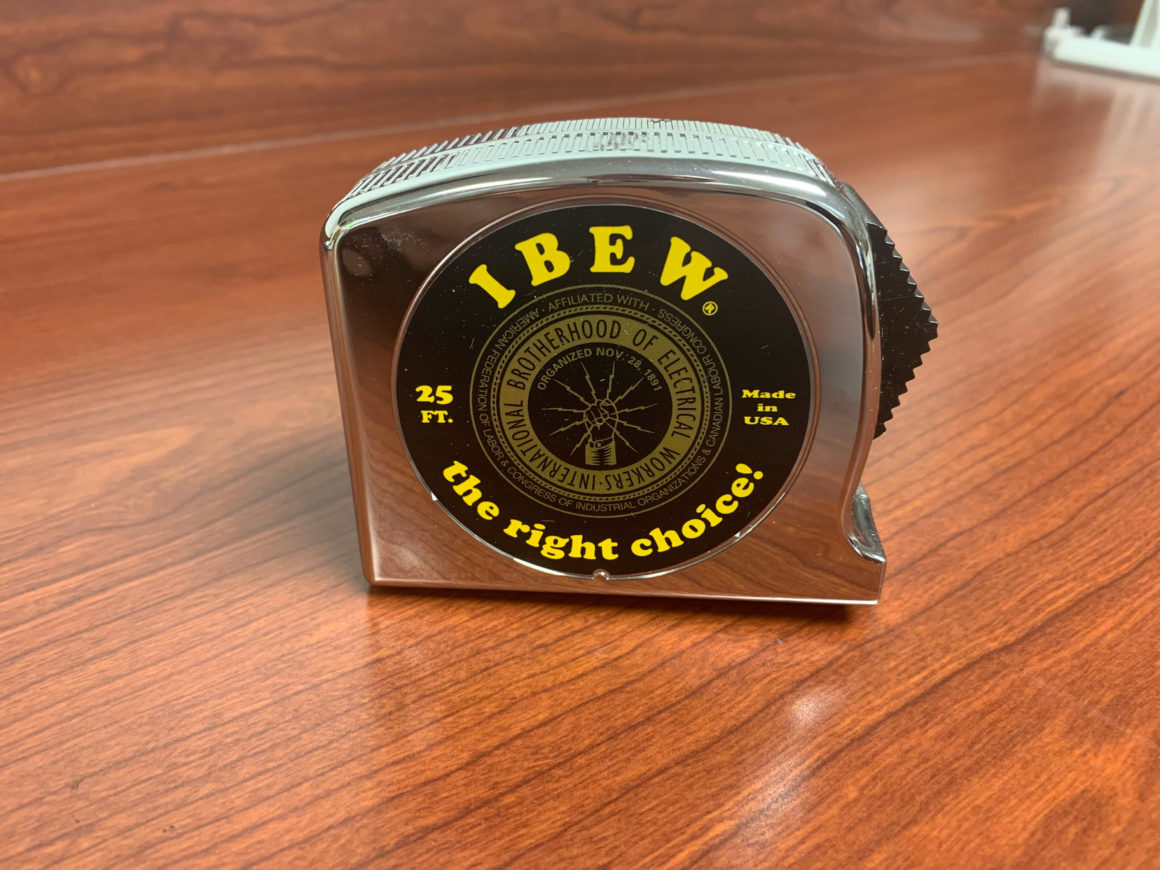 IBEW Measuring Tape – $14